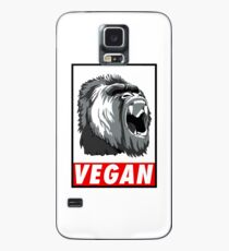 Vegan fitness : the power of Gorilla ! Case/Skin for Samsung Galaxy