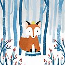 The Fox Prince in the Norwegian Winter Forest by heidisuul