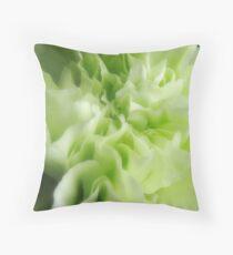 Light Green Carnation Throw Pillow