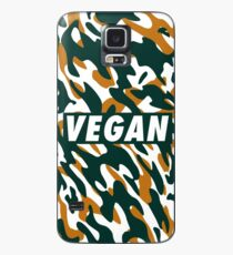 Vegan - Orange camouflage Case/Skin for Samsung Galaxy