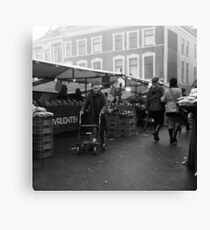 Market In The Mist Canvas Print