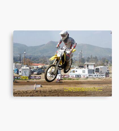 Over my head!  Rider #715;Perris MX, Perris, CA USA Metal Print