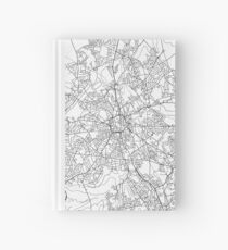 Wolverhampton map poster print wall art, United Kingdom gift printable, Home and Nursery, Modern map decor for office, Map Art, Map Gifts Hardcover Journal