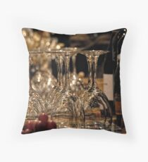 At the Wine Tasting Throw Pillow