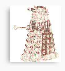 Floral Dalek Canvas Print