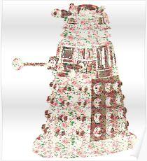 Floral Dalek Poster