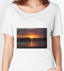 Sunset Reflection on the Water Women's Relaxed Fit T-Shirt