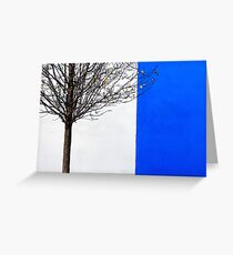 White and Blue Greeting Card