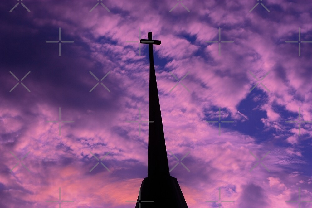 Bright and Colorful Cross in the SKY by ROBERTDBROZEK