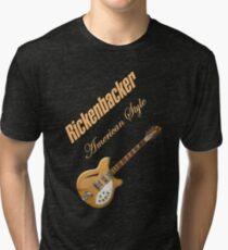 Rickenbacker Natural 12s American Style  Tri-blend T-Shirt