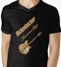 Rickenbacker Natural 12s American Style  Men's V-Neck T-Shirt