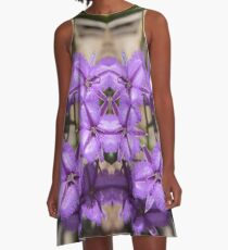 common fringe-lily flower Australia Thysanotus tuberosus kaleidoscope A-Line Dress
