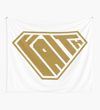 Faith SuperEmpowered (Gold) Wall Tapestry