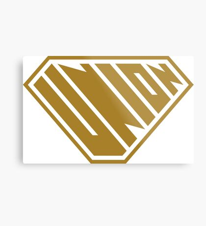 Union SuperEmpowered (Gold) Metal Print