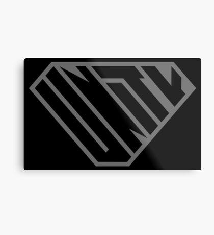 Unity SuperEmpowered (Black on Black) Metal Print