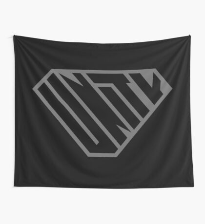 Unity SuperEmpowered (Black on Black) Wall Tapestry