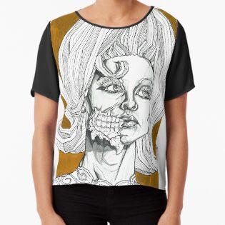413266e4f Geometric Black and Gold Martian Alien Pop Art