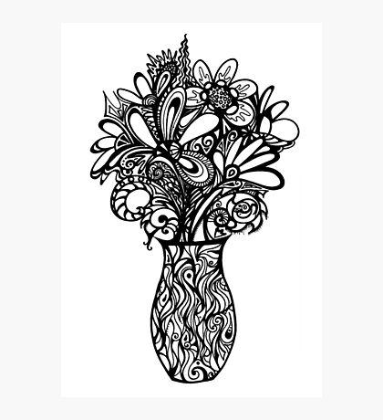 Valentines Vase Photographic Print