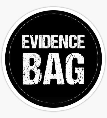 Evidence Bag Tote for True Crime Fan Sticker
