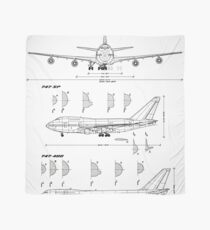 Boeing 747 Concept Drawing (white) Scarf