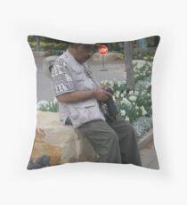Mr Weg Sits Throw Pillow