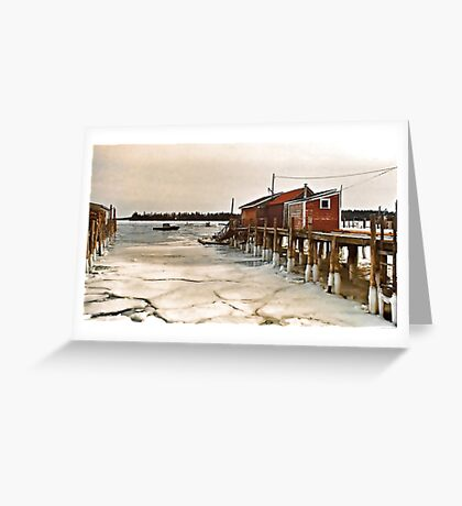 --Friendship Harbor, Maine -- Greeting Card