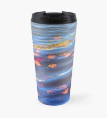 sun-kissed floating autmn leaves Travel Mug