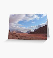 Wadi Rum Jordan  Greeting Card