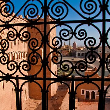 Morocco. Ouarzazate. Kasbah Taourirt. View from the window. by vadim19
