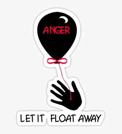 releasing anger Sticker