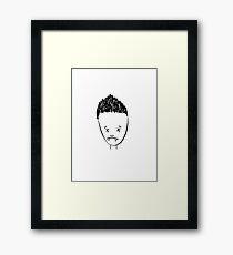 Spikes drawing of Angel Framed Print