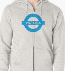 Victoria Line - London Underground Roundel Zipped Hoodie