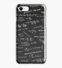 Blackboard With Math Formulars iPhone Case/Skin