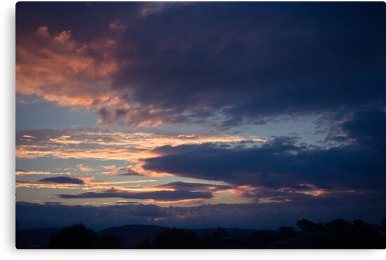 Autumn sunset in Canberra by Amanda-Jane Snelling