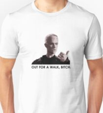 Spike, out for a walk - dark font (TSHIRT) Unisex T-Shirt