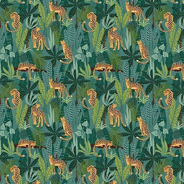 Jungle Leopards Pattern by heartlocked