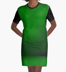 Green Abstract Grunge Background Graphic T-Shirt Dress