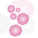 Pink and white flowers by Amanda-Jane Snelling