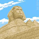 The Great Sphinx at Giza - Le Grand Sphinx de Giza, Pixel Art by Dominic Beaudoin