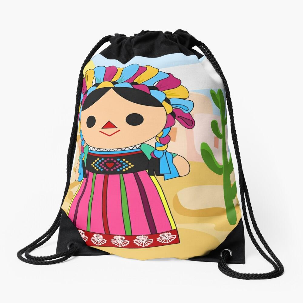 Maria 3 (Mexican Doll) Drawstring Bag