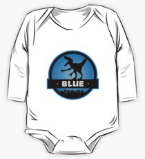 Velociraptor Blue Squad One Piece - Long Sleeve