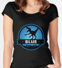 Velociraptor Blue Squad Women's Fitted Scoop T-Shirt