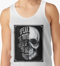 Skull Speak the truth Men's Tank Top