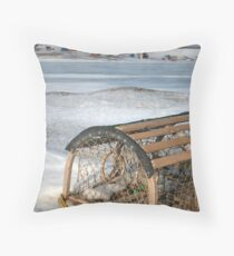 Winter scene in the Islands Throw Pillow