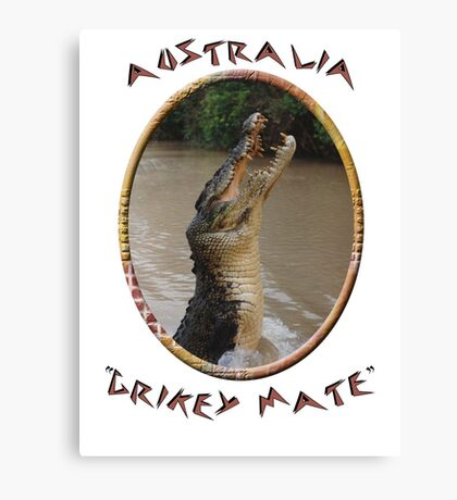 Jumping Croc Australia Canvas Print