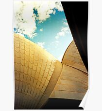 Opera House and stippled sky #2 Poster