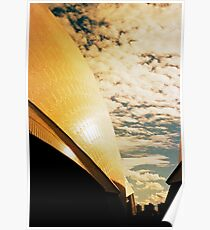 Opera House and stippled sky #3 Poster