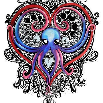 Octopus Heart shirt by jackdcurleo