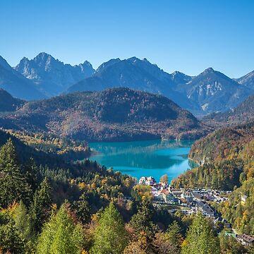 Germany. Bavaria. Schwangau. View form Neuschwanstein. by vadim19