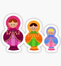 Matrioskas 2 (Russian dolls 2) Sticker